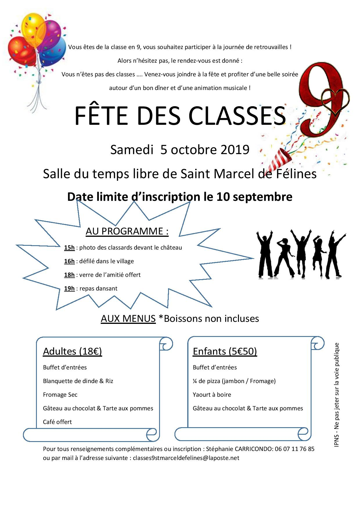 fête des classes